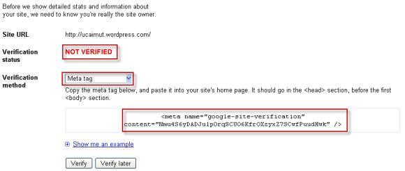 not verified meta tag